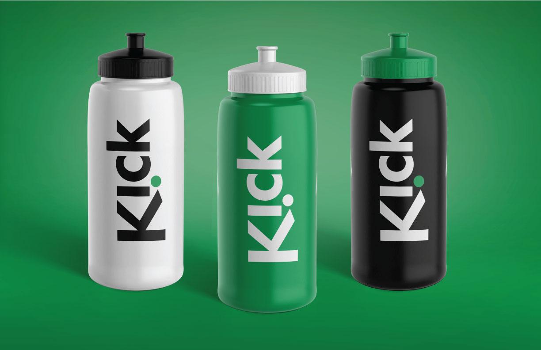 Kick Brand Identity Sport Bottles