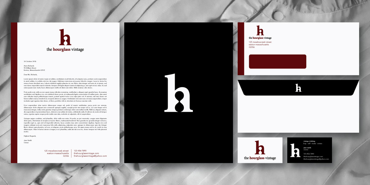 The Hourglass Vintage Stationery Suite