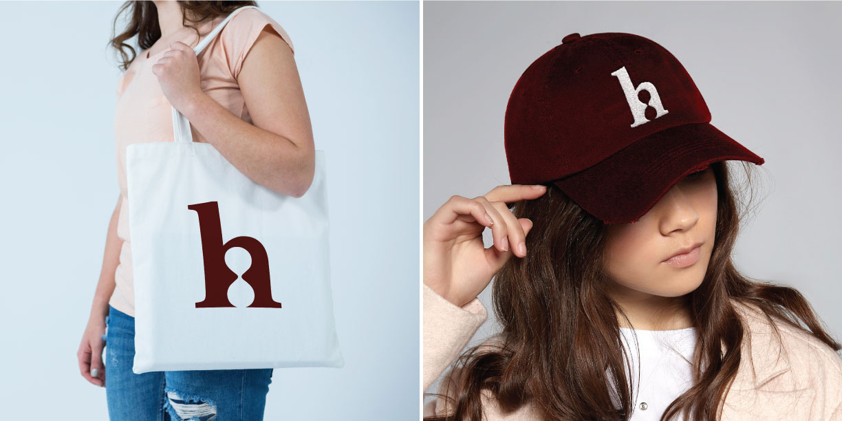 The Hourglass Vintage Tote Bag and Hat