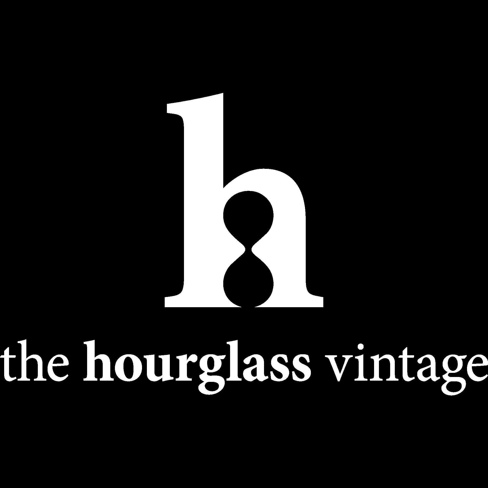The Hourglass Vintage White Logo