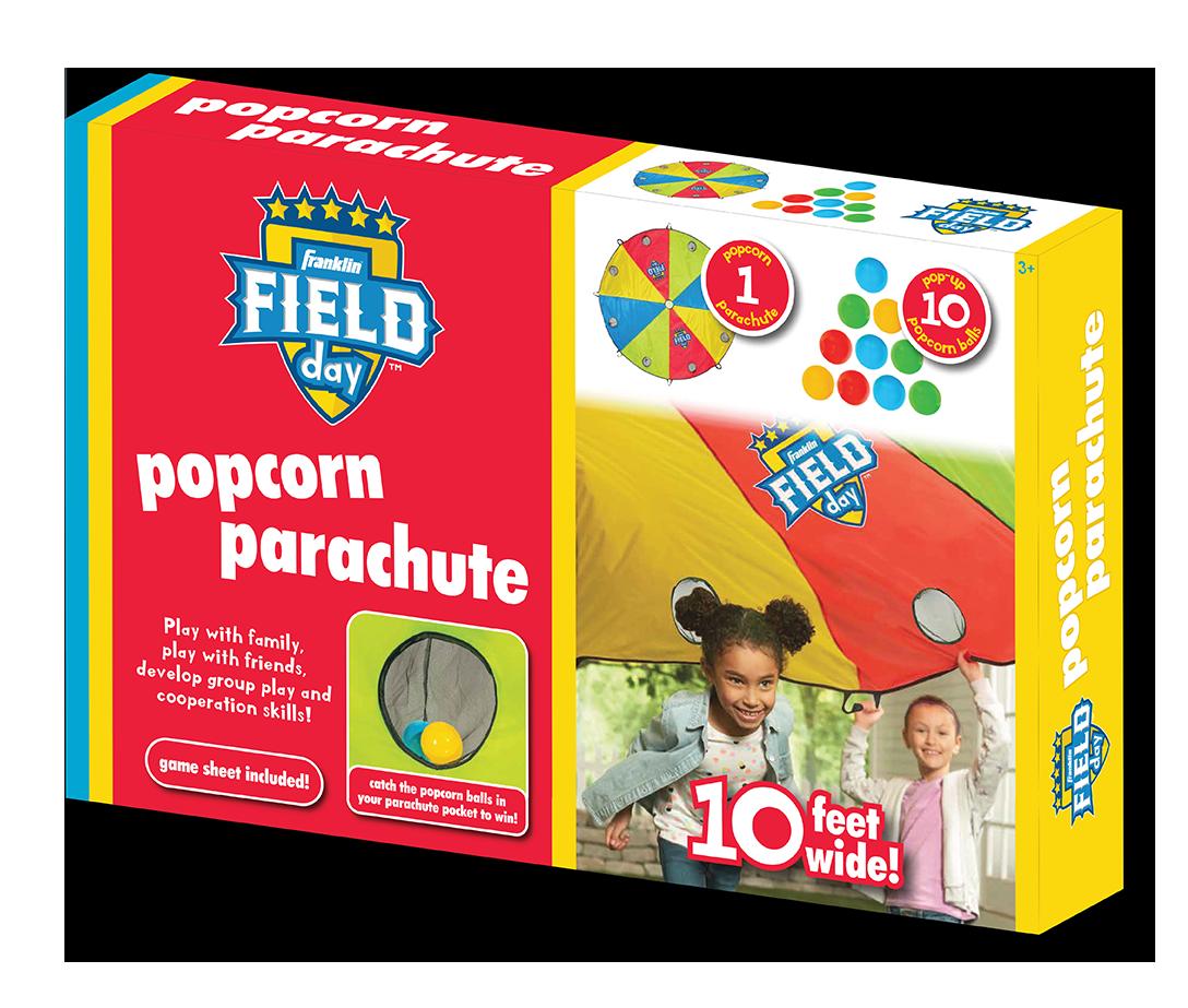 Franklin Field Day Popcorn Parachute Packaging Design