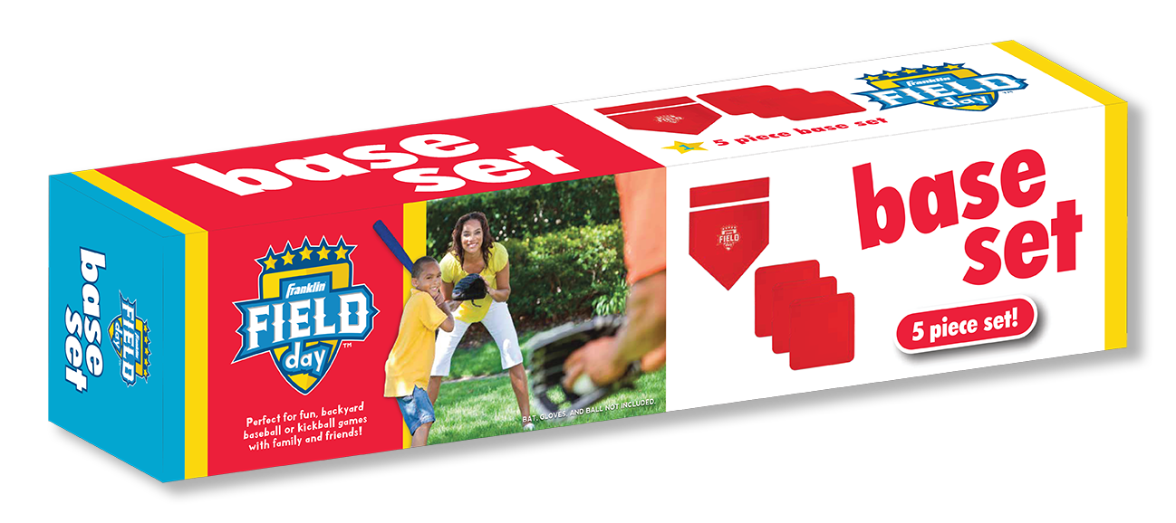 Franklin Field Day Baseball Base Set Packaging Design