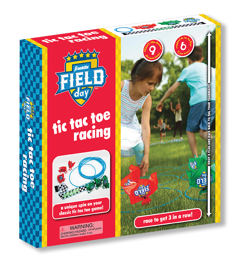 Franklin Field Day Tic Tac Toe Racing Packaging Design