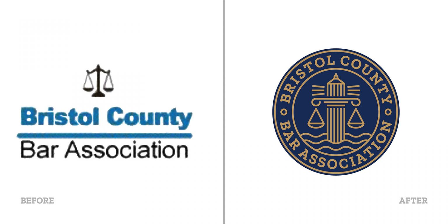 Bristol County Bar Association Before & After Logos