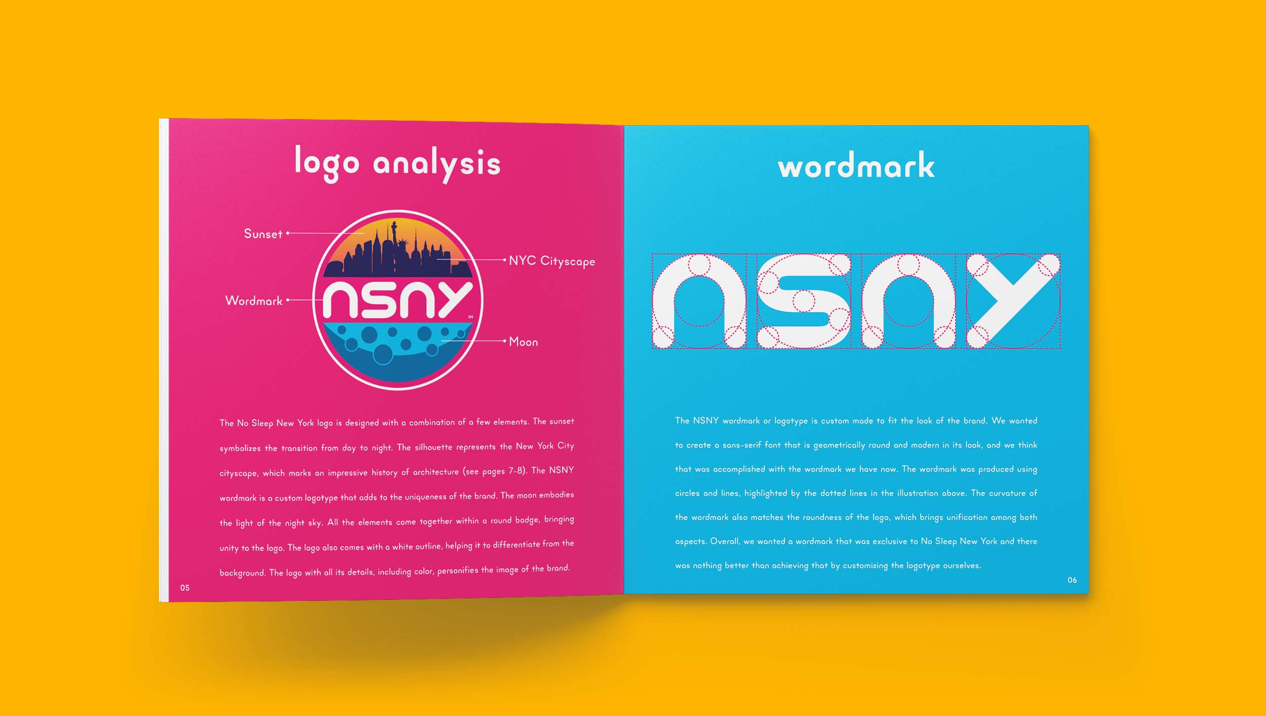 No Sleep New York Brand Guidelines Logo Analysis & Wordmark