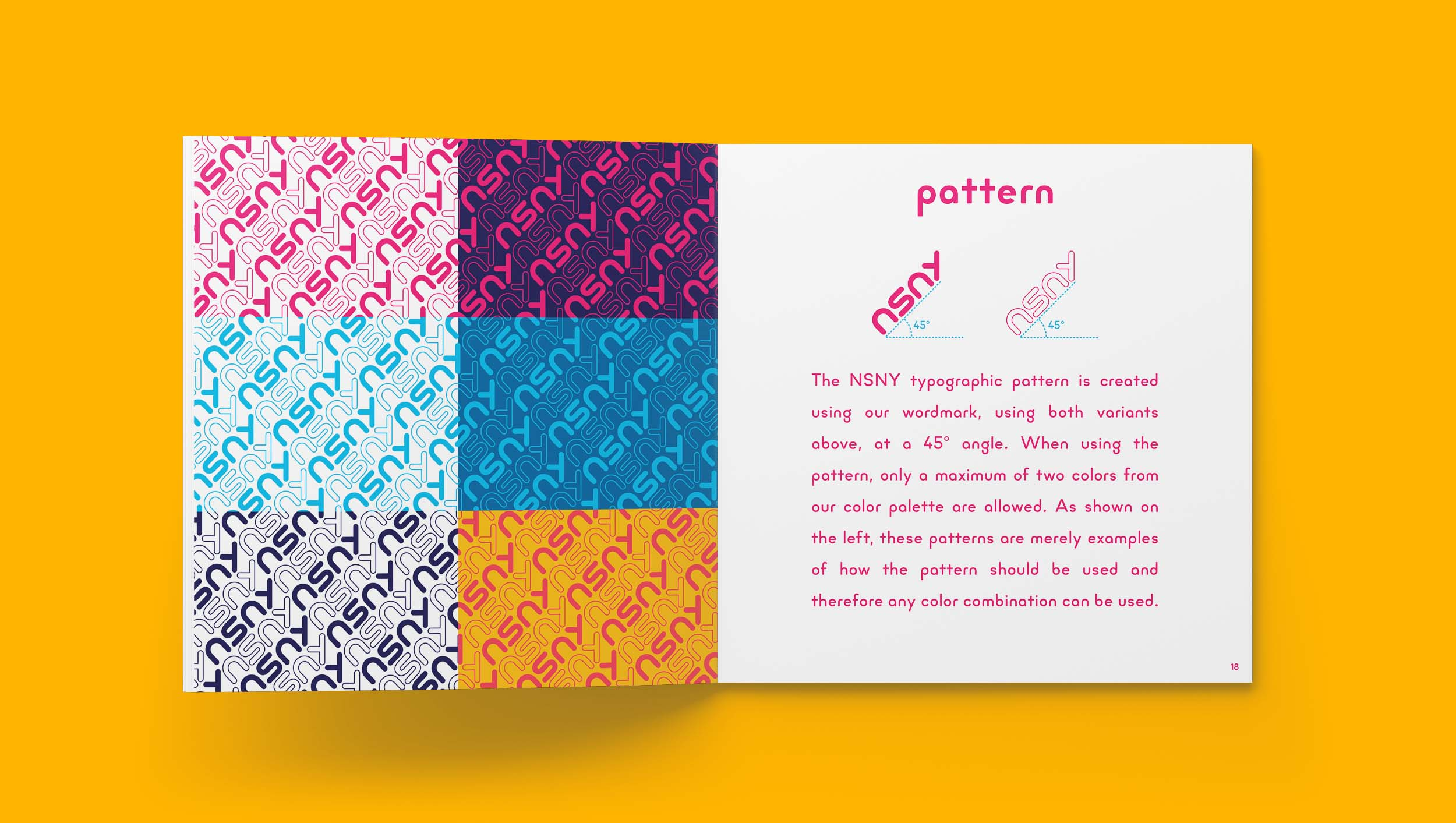 No Sleep New York Brand Guidelines Pattern